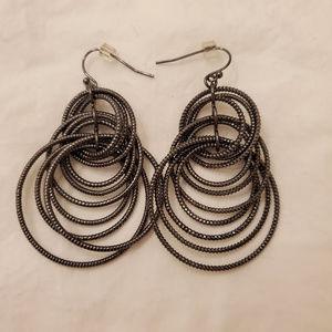 lia sophia Hematite Dangling Earrings